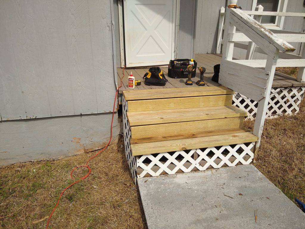replace porch steps