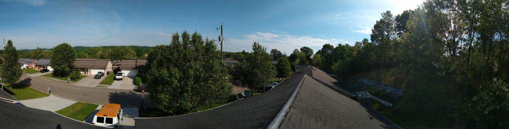 rooftop view, roof repair