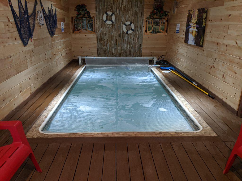 indoor pool decking